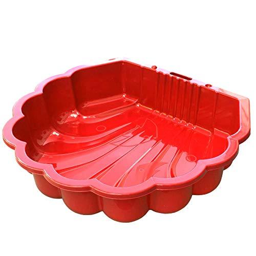 Tiktaktoo Sable & et Wassermuschel I Bac à Sable sans Couverture - Rouge