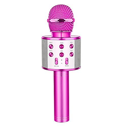 LetsGO toyz Cadeau Fille 4-15 Ans, Microphone Bluetooth pour Enfants Cadeaux pour Fille de 4-12 Ans...