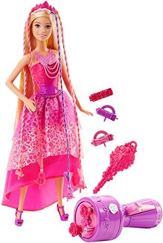 Barbie poupée Princesse Tresses Magiques aux longs cheveux, perles et accessoires inclus, jouet...