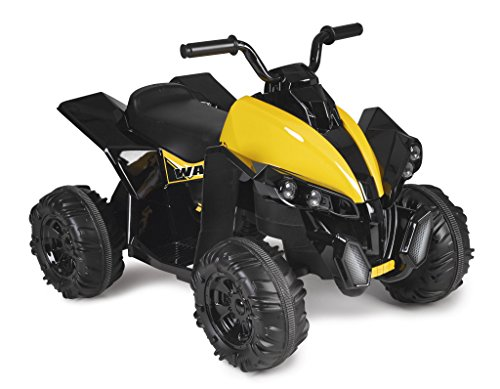 FEBER Wagon - Quad électrique pour enfants de 3 à 6 ans, 12V, Noir (Famosa 800011240 )