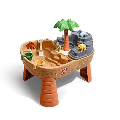 Step2 Dino Dig Table de jeu Sable et Eau | Avec Kit d'Accessoires de 7 Pièces | Table de Jeu Enfant...