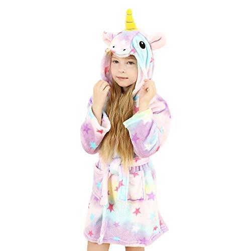 wgde toy Jouets pour filles de 8-9 ans, douce Licorne Peignoir à capuchon Vêtements de nuit pour...