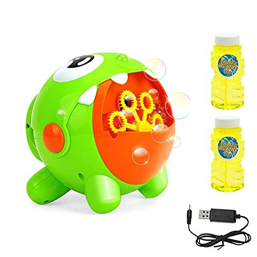 EXTSUD Machine à Bulles Automatique Électrique Recharge USB Jouet de Bain Appareil Jeux de Bulles...