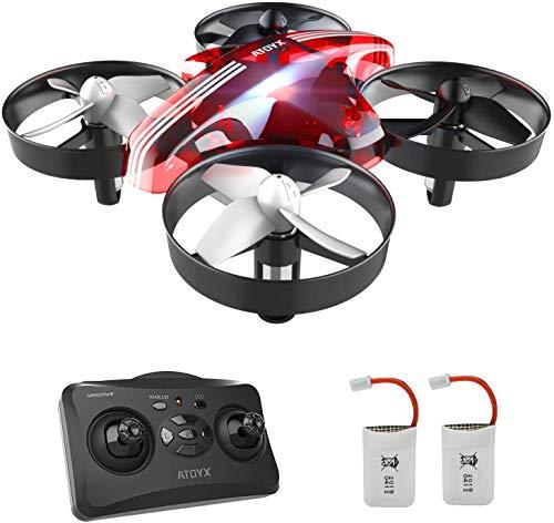 ATOYX AT-66 Drone Enfant Hélicoptère Télécommandé Quadcopter avec Mode sans Tête Avion Mini...