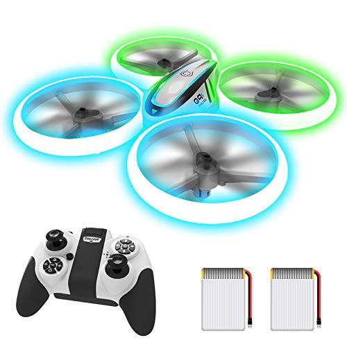 Q9s Drone Enfant,Helicoptere Telecommande avec Lumières Bleues et Vertes et Deux Batteries,RC...