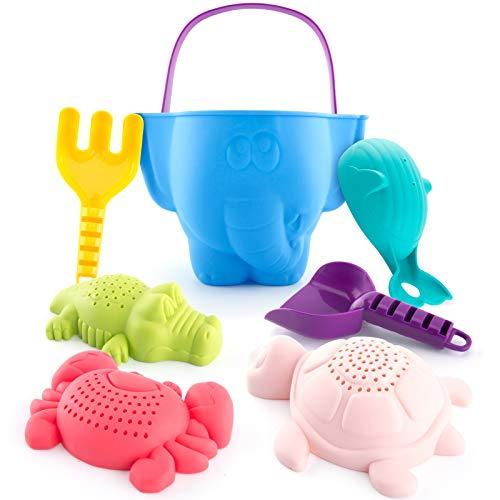 CubicFun kit de Jouets de Plage Enfant, Jouet de Sable avec Seau Plage, Turtle Crocodile Baleine...
