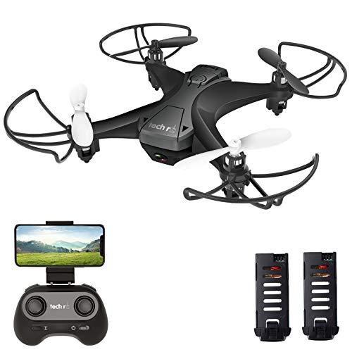 tech rc Drone avec Caméra HD, Drone Caméra Temps de Vol de 20 Minutes, 360°Flips, 2 Batteries,...