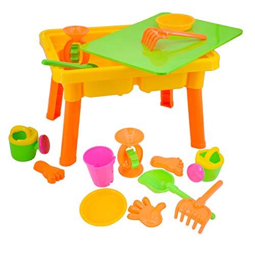 deAO Table pour Jeux avec Sable et Eau Activité des Enfants à l'Étranger Ensemble Comprend...