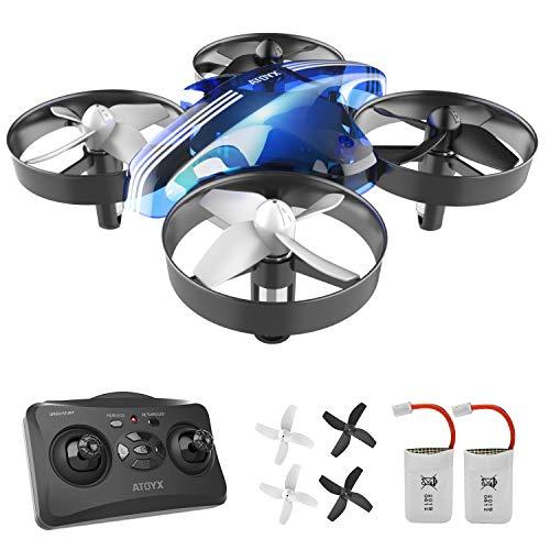 ATOYX Jouets d'intérieur Drone Enfant Hélicoptère Télécommandé Quadcopter avec Mode sans Tête...