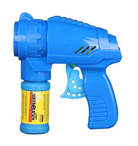 Idena 40089 - Pistolet à bulles avec solution à bulles 53 ml, de couleur bleue, idéal pour...