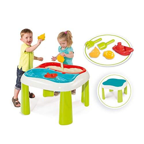 Smoby - Table Sable et Eau - Jeu Plein Air Enfant - 2 Bacs Amovibles + Couvercles - Accessoires de...