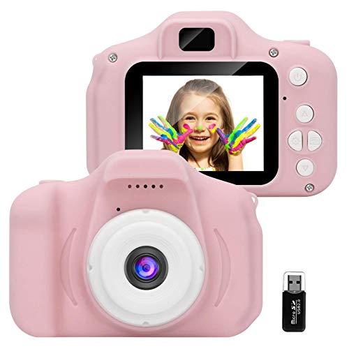 GlobalCrown Appareil Photo pour Enfants,Mini Caméra Numérique Rechargeable Caméscope Antichoc...