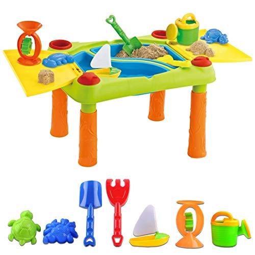 deAO Table de Jeu Sable et Eau pour Les activités d'Enfants en Plein air avec Double...