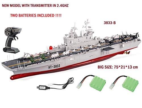 MODELTRONIC Radio Contrôle Navire de Guerre Électrique 1:350 Assaut amphibie de Navire US Wasp...