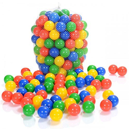 LCP Kids 100 Balles de Piscine a Balles en Plastique Colorées Sans Plastifiants Pour Bébé Enfant...
