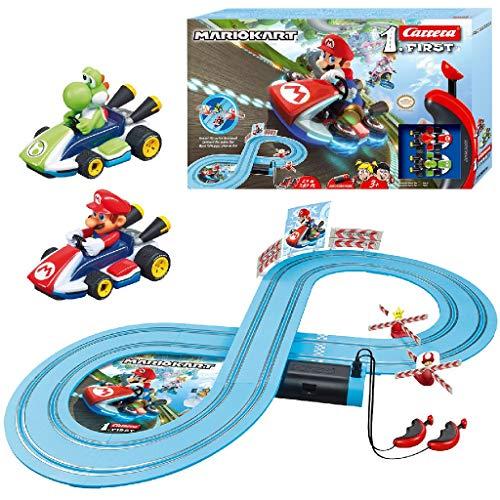 Carrera FIRST Nintendo Mario Kart – Circuit de course électrique avec voitures miniatures Mario...