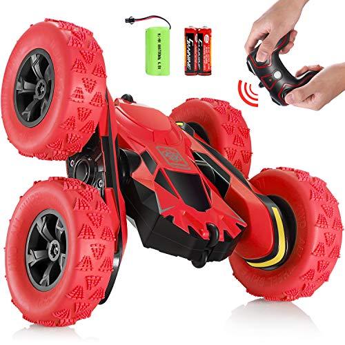 SGILE RC Voiture Télécommandée - 4WD Stunt Car à 360° Rotation, 2.4GHz Crawlers Radiocommandés...