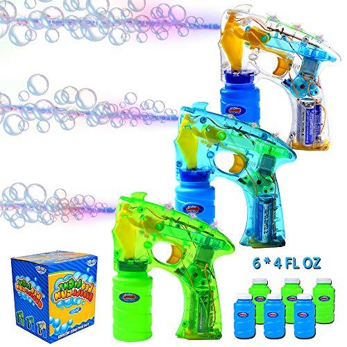 Kit de 3 Pistolet à Bulle Bubble Blaster LED pour Bonbonnières , Fournitures de Fête Machine à...