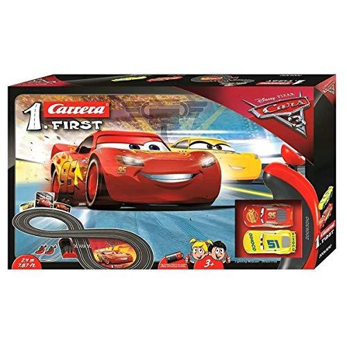 Carrera FIRST Disney Pixar Cars – Circuit de course électrique avec voitures miniatures Flash...