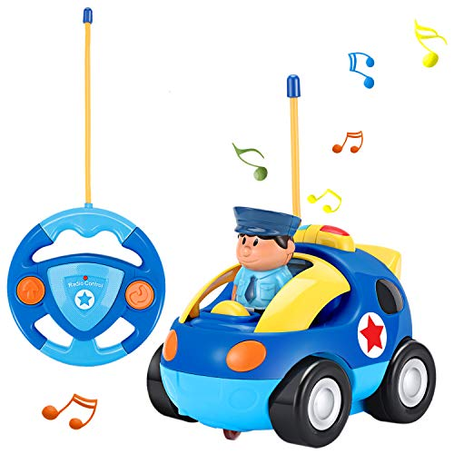 OCDAY Voiture Télécommandée RC Camion de Police/Course Jouet pour les Bébés et les Enfants...