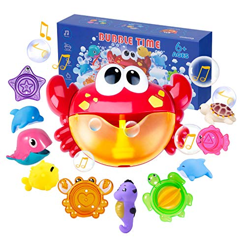 Joyjoz Jouets de Bain Crab Bubble Bath Toys Squirters de Bain Tasses empilables Machine à Bulles...