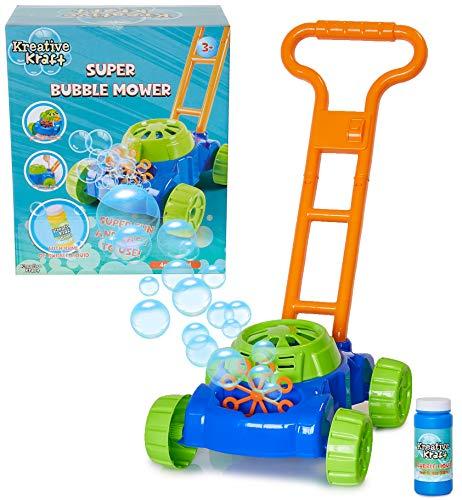 KreativeKraft Tondeuse A Bulles pour Enfant, Jeux Exterieur Enfant, Machine A Bulle Amusante pour...