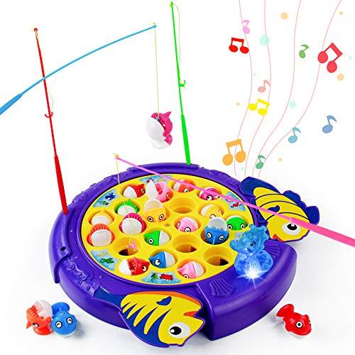 Peche a La Ligne Enfant Jeu Musical Jouet Jeux Educatif Poisson Canne à Pêche Jeux de Societes...