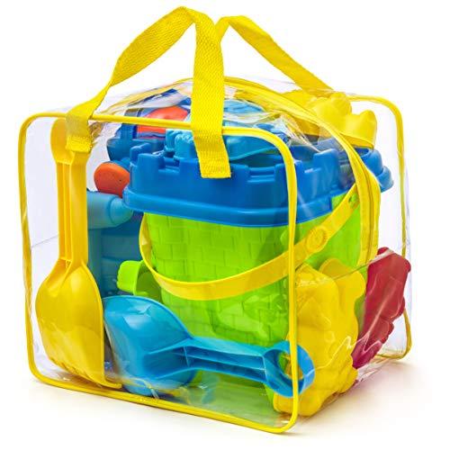 Kit de jeu de plage enfant - Sac zippé réutilisable - Coloris Aleatoire