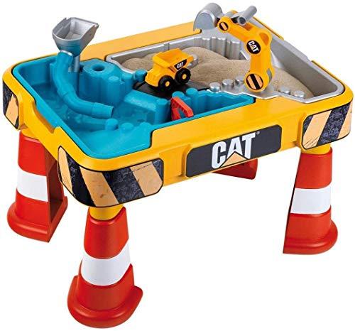 Klein 3237 Table de jeu CAT® à sable et à eau | Avec bras de pelleteuse, benne, 2 tuyaux,...