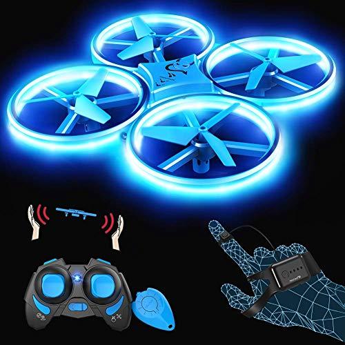 SNAPTAIN SP300 Drone LED 3 Modes de Contrôle, 360° Flips, Capteur Infrarouge, Induction de...