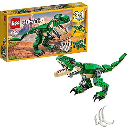 LEGO 31058 Creator LeDinosaureféroce, Modèle 3 en 1, Figurines de Dinosaures tricératops et...