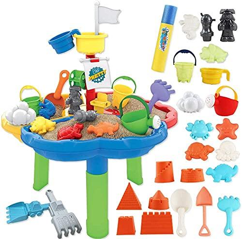 deAO Table d'activité d'extérieur bac à Eau et à Sable pour Votre Enfant incluant Une...