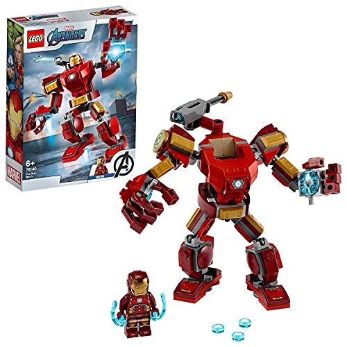 LEGO 76140 Marvel Super Heroes Le Robot d'Iron Man, Figurine de Combat pour Enfants de 6 Ans et...