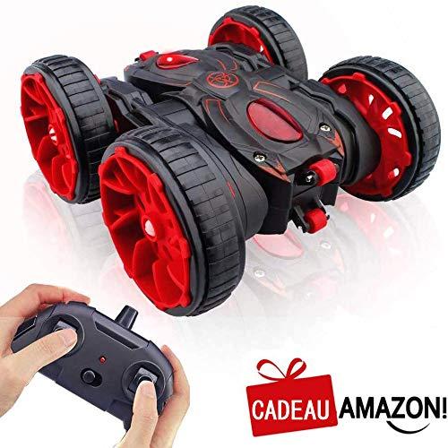 RC Voiture Telecommande, 4WD Stunt Car à 360° Rotation Maniable, 2.4GHz Radiocommandé Crawlers à...