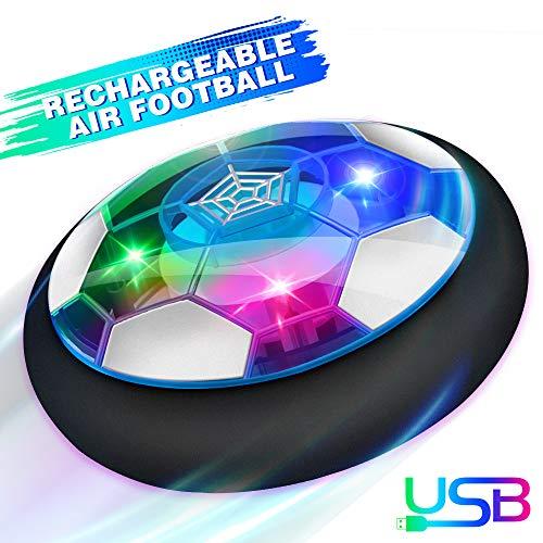 Baztoy Air Power Football, Jouet Enfant Ballon de Foot Rechargeable avec LED Lumière Hover Soccer...