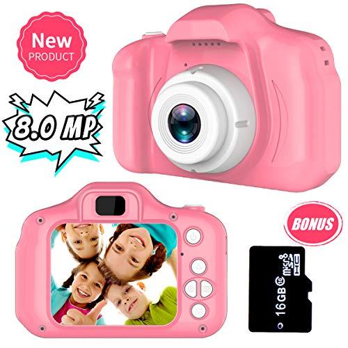Cadeaux 3-8 Ans Filles Joy-Fun Appareil Photo Enfants 8.0 MP Appareil Photo Numerique Enfant Vidéo...