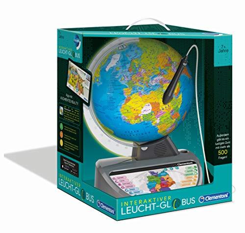 Clementoni Galileo Science 59183 Globe interactif Lumineux avec Questions et Faits Jouet éducatif...