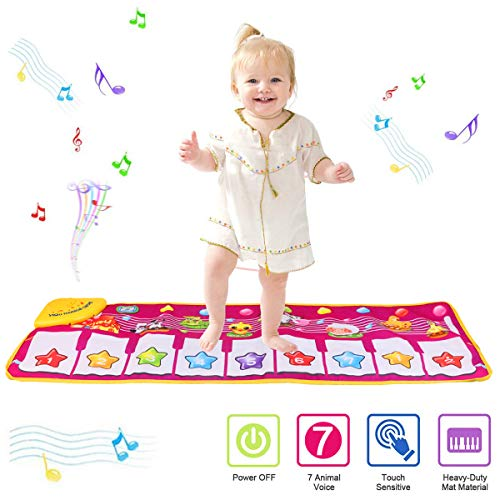PROACC Tapis de Jeu pour Piano, Jouet de Tapis de Musique pour Piano pour Enfants, Tapis de Danse...