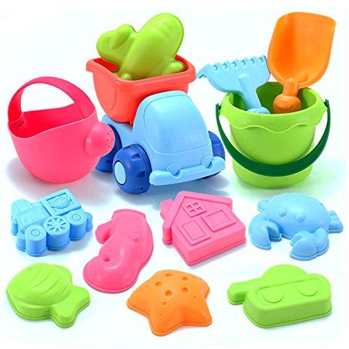 YIMORE 13 Pièces Jouets de plage Bacs à sable et Jeux de sable Ensemble de jouets de plage pour...
