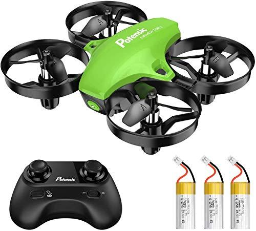 Potensic A20 Mini Drone Amélioré Télécommandé 21 Mins Autonomie avec Trois Batteries ,...