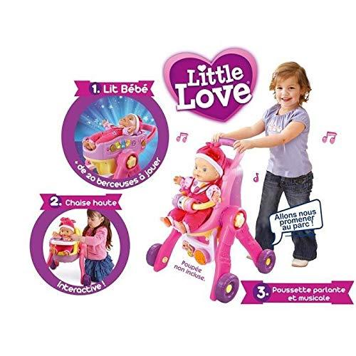 VTech - 154105 - Poussette pour Poupée - Little Love - 3 en 1 Interactive