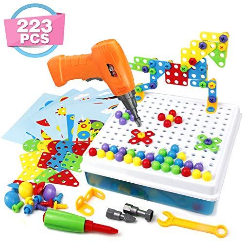 Symiu Mosaique Enfant Puzzle 3D Construction Enfant Jeu Montessori Kit Mosaique 223 Pcs pour Enfant...