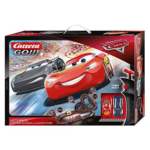 Carrera GO!!! Disney Pixars Cars - Let's Race – Circuit de course électrique avec voitures...