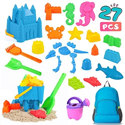 Rolimate Beach Sand Jouets Set pour Enfants, 27 pcs Jouets de bac à Sable pour la Plage avec des...