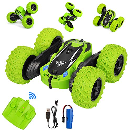 RC Stunt Car, 4WD Télécommande Voiture 2.4GHz Double Face 360 ° Spins and Flips RC Racing Vehicle...