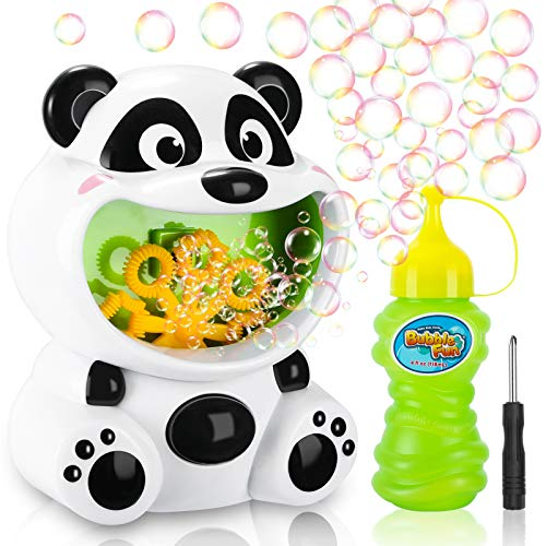 Gifort Machine à Bulles Enfants, Charmant Panda Souffleuse de Bulles Automatique Bubble Machine,...