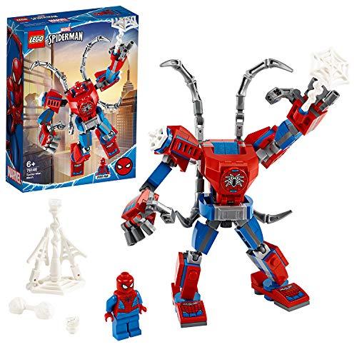LEGO Super-Héros Marvel, Le robot de Spider-Man, Set de jeu pour enfants de 6 ans et plus, 113...