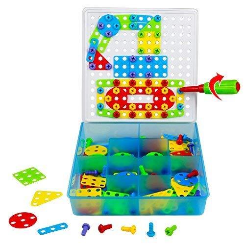 TONZE Jeu de Construction Puzzle Enfant Jouet Fille Garcon 3 Ans et Plus Motricité Fine Pegboard...