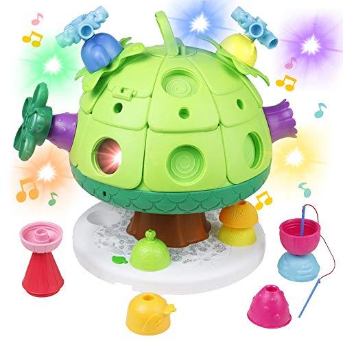 Cube d'Activité Puzzle Jeux de Construction Musique Bebe Motricité Fine Cube Bebe Jouet Eveil...