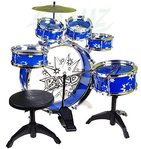 Percussion batterie pour enfants, batterie avec tabouret et 2 baguettes, batterie pour batterie,...